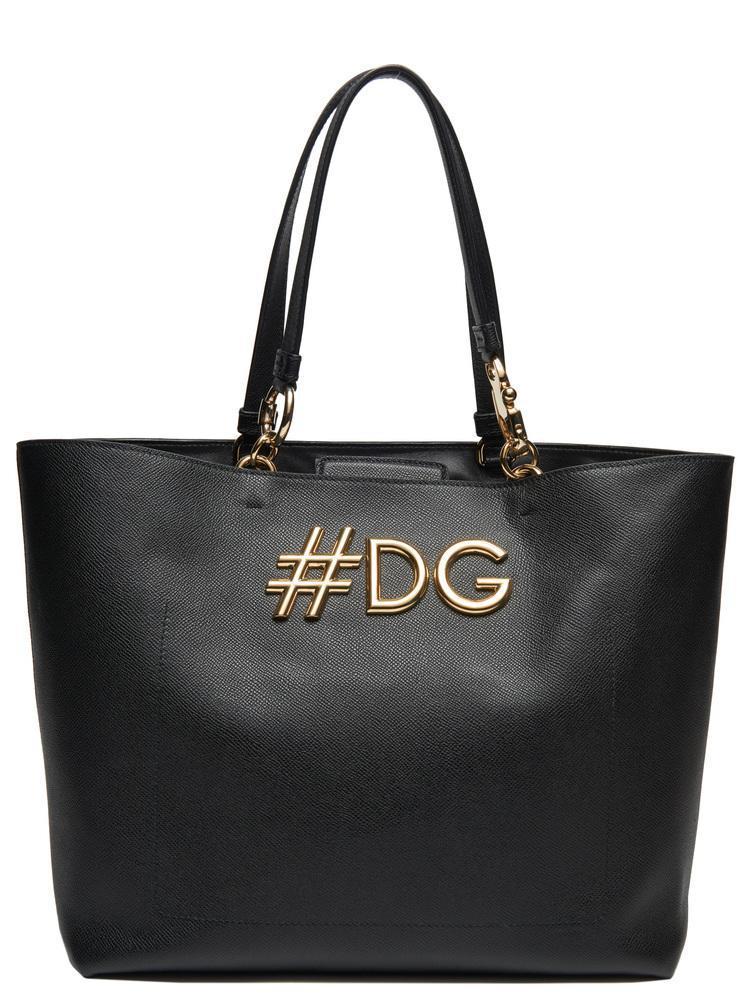 ff934f4c101a Lyst - Dolce   Gabbana  dg Tote Bag in Black