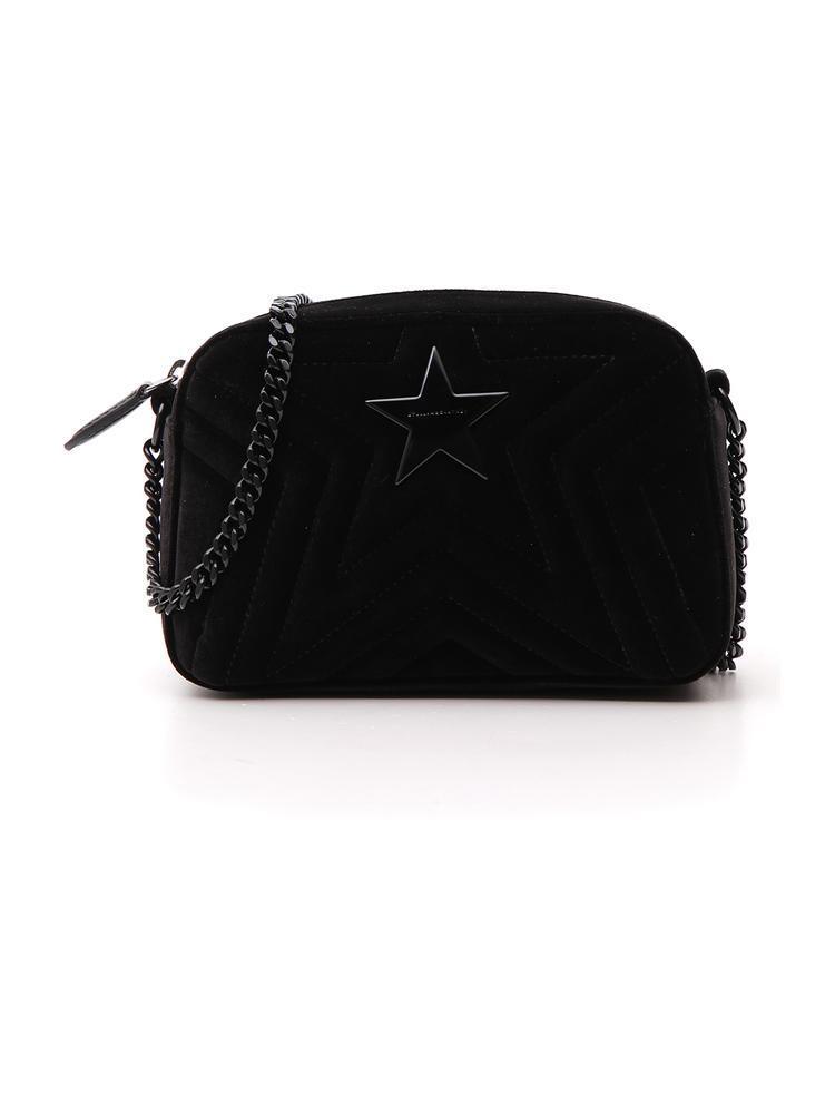 6058078f507b Lyst - Stella Mccartney Quilted Star Crossbody Bag in Black