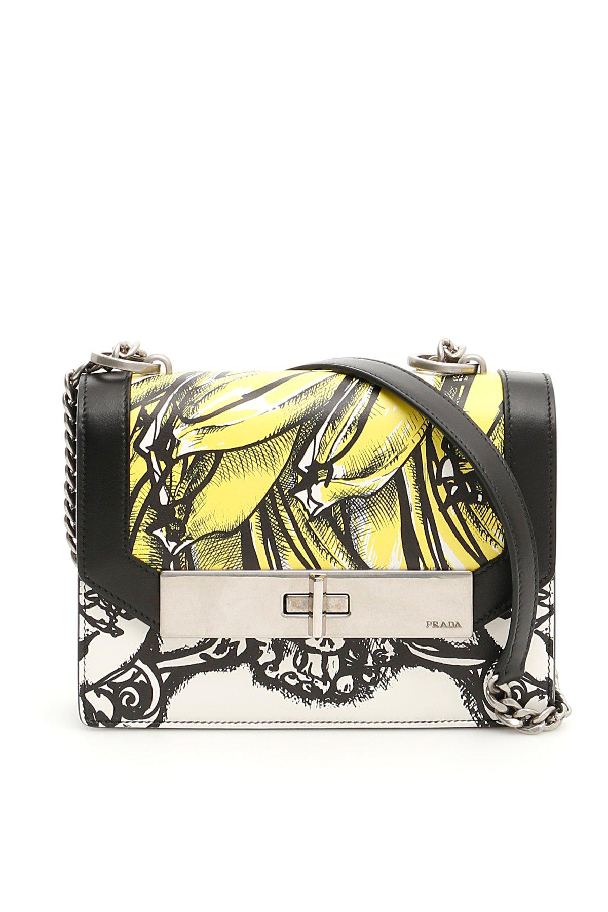 50c057febcbe35 Prada - Yellow Séverine Twist Lock Shoulder Bag - Lyst. View fullscreen