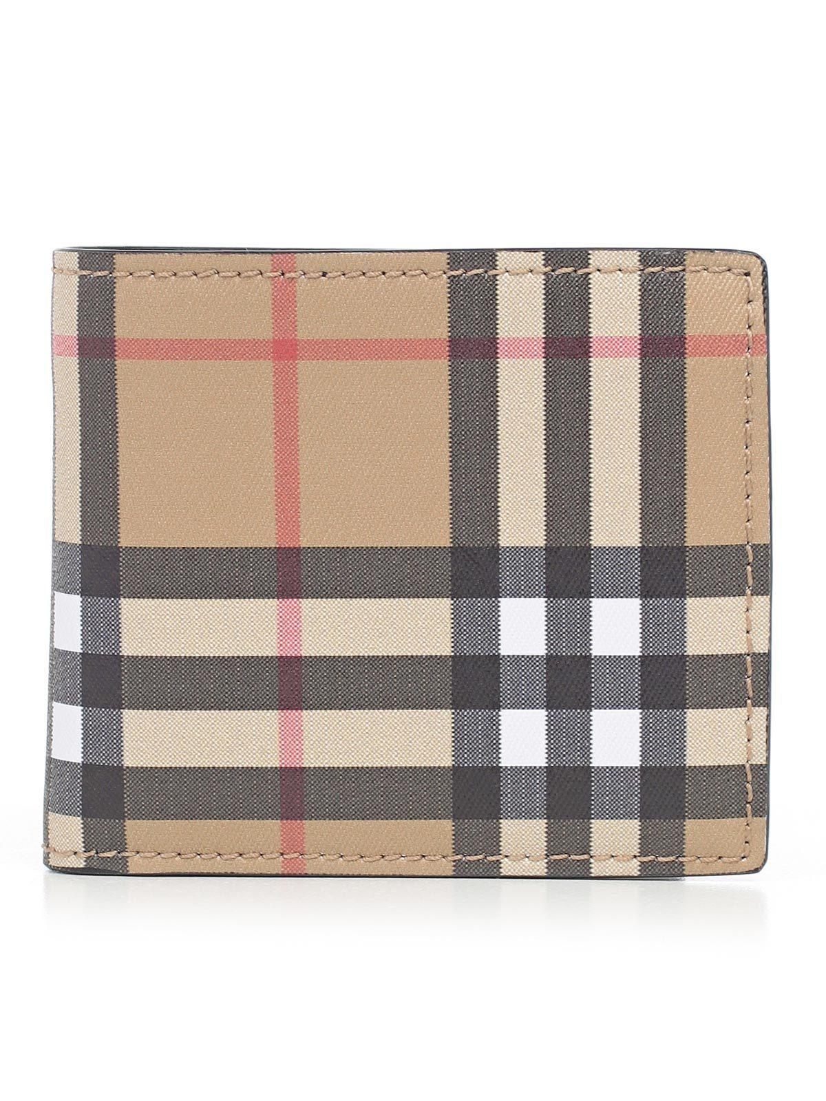 5e651f5393f Burberry Vintage Check Bifold Wallet in Black for Men - Lyst