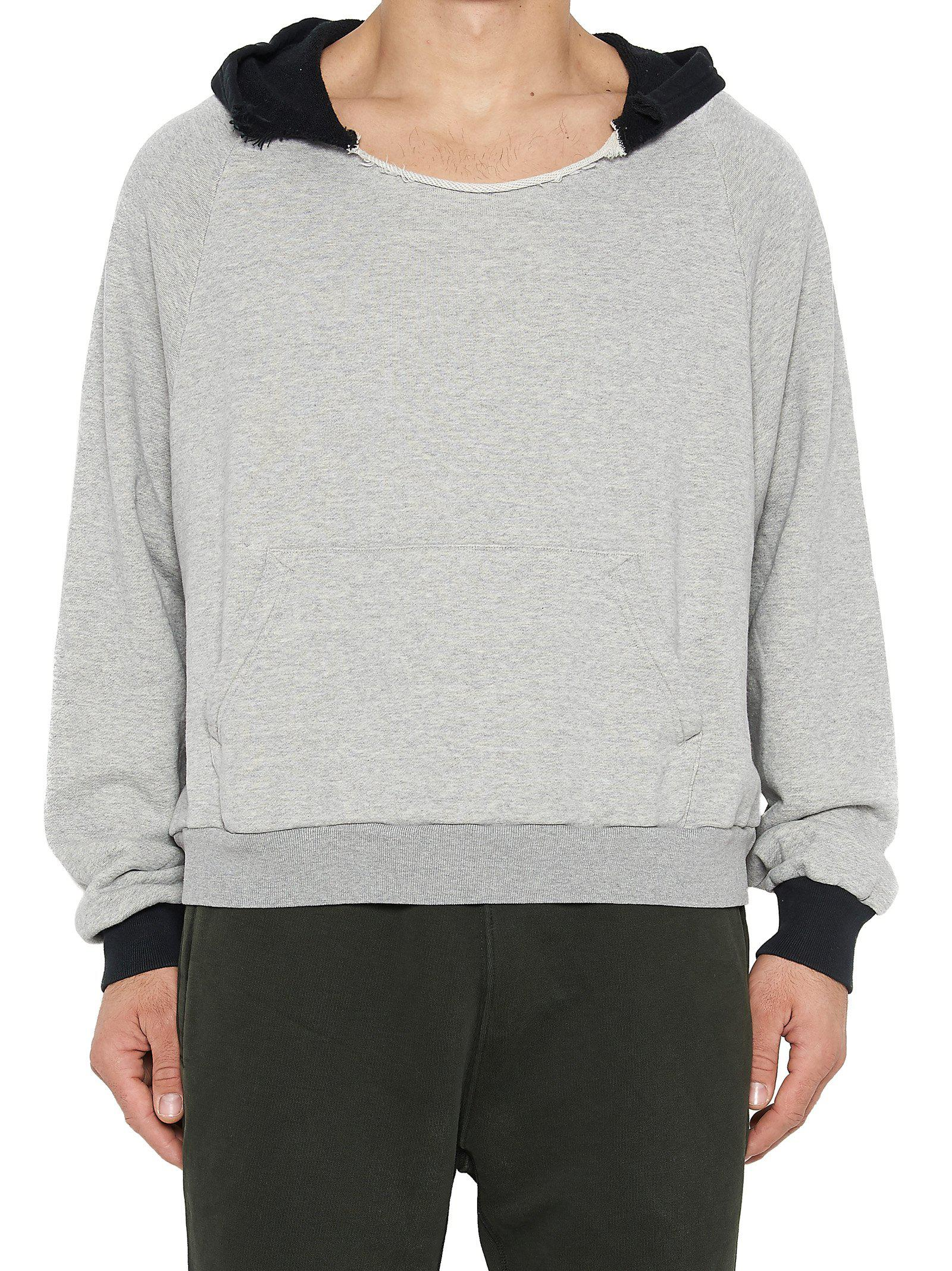 960336c9 Yeezy Ripped Hoodie in Gray for Men - Lyst