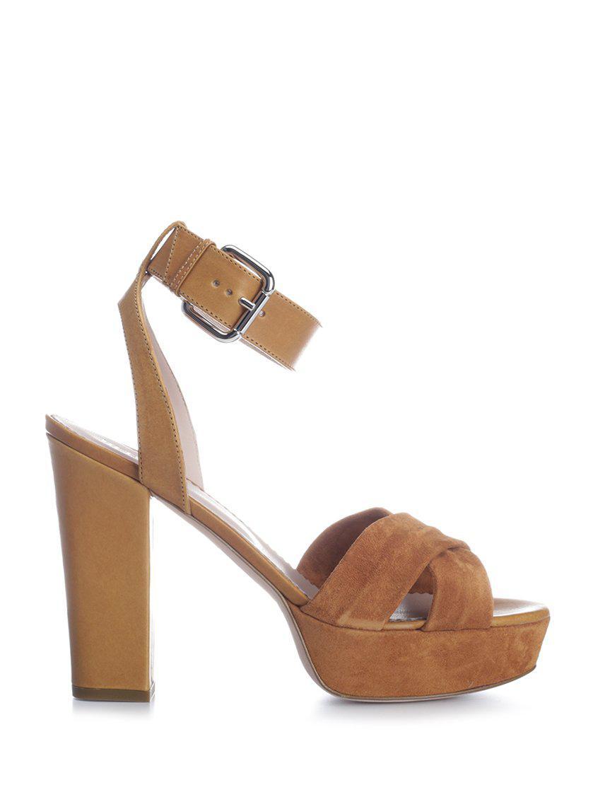 25146e609b0 Lyst - RED Valentino Platform Sandals in Brown