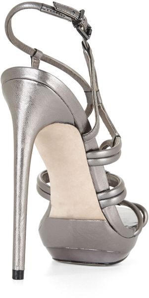 5dafda78a239e4 Bcbgmaxazria Farrow Highheel Strappy Dress Sandal in Gray (GUNMETAL)