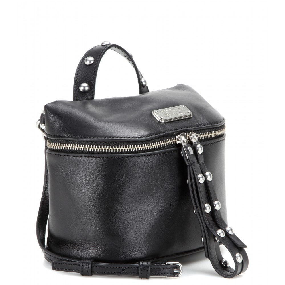 90facb639349 Lyst - Marc By Marc Jacobs Canteen Rivets Leather Shoulder Bag in Black