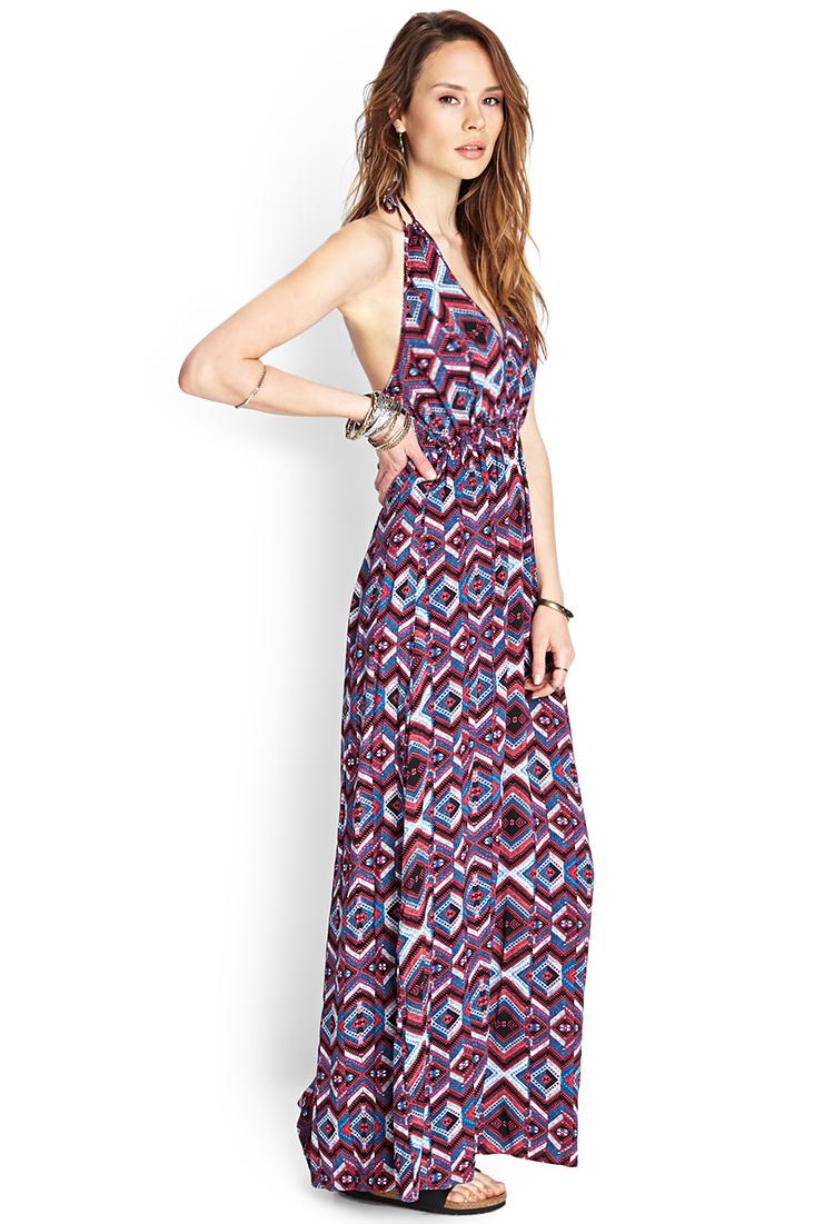 da7eaf88a Forever 21 Print Maxi Dress - Lyst