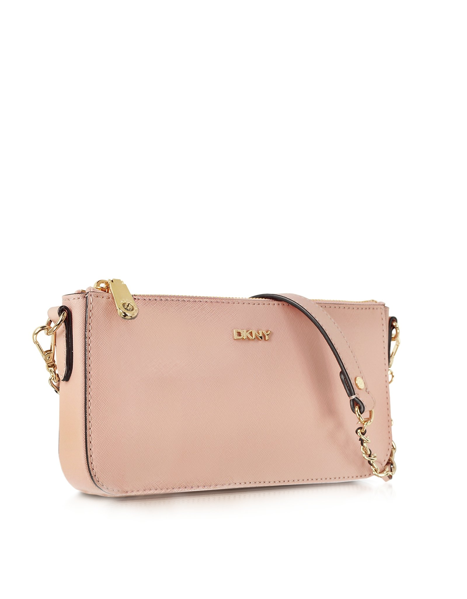 a97acfeff0 Lyst - DKNY Bryant Park Blush Saffiano Leather Crossbody Bag in Pink