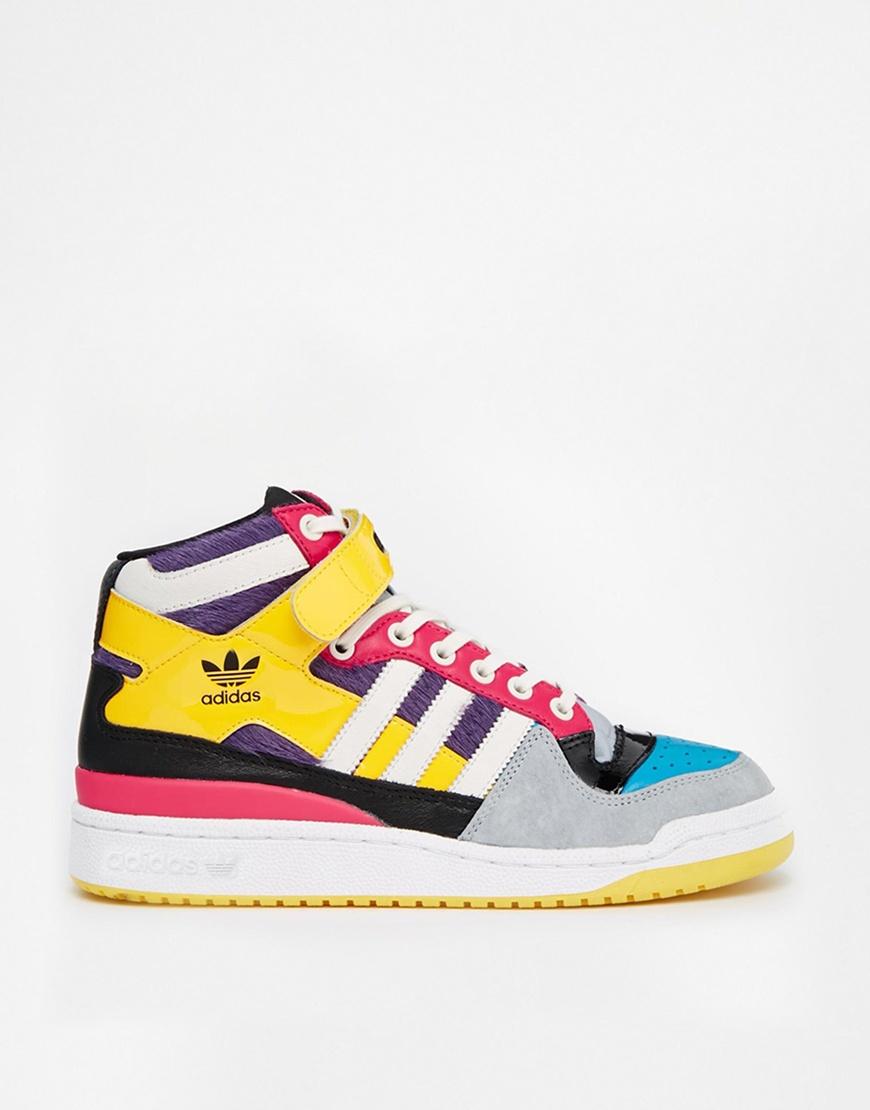adidas multi coloured trainers