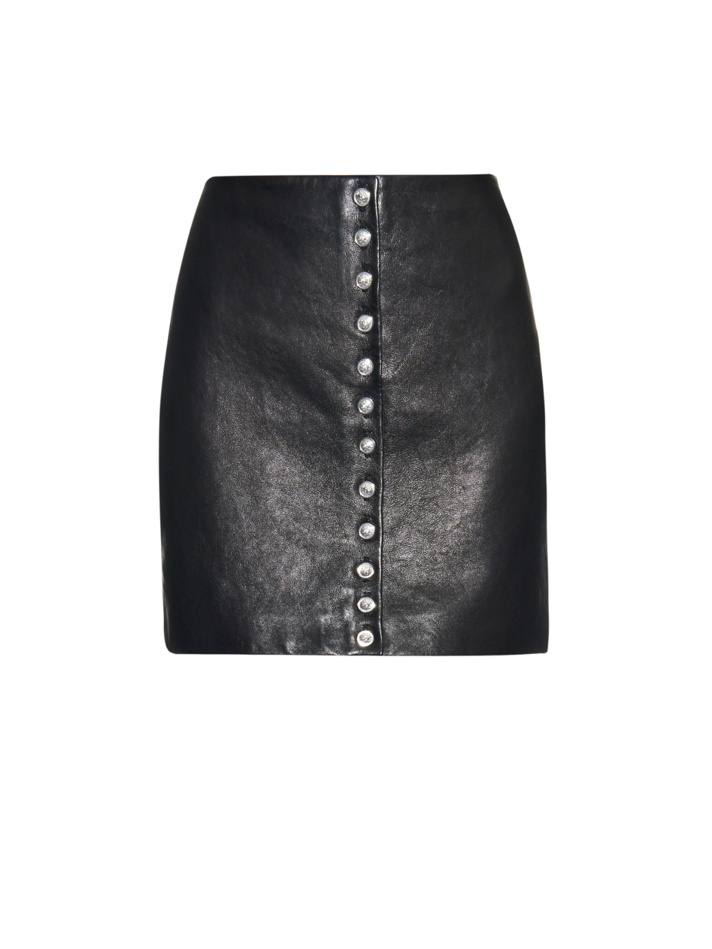 Versus Lion-head Leather Mini Skirt in Black | Lyst