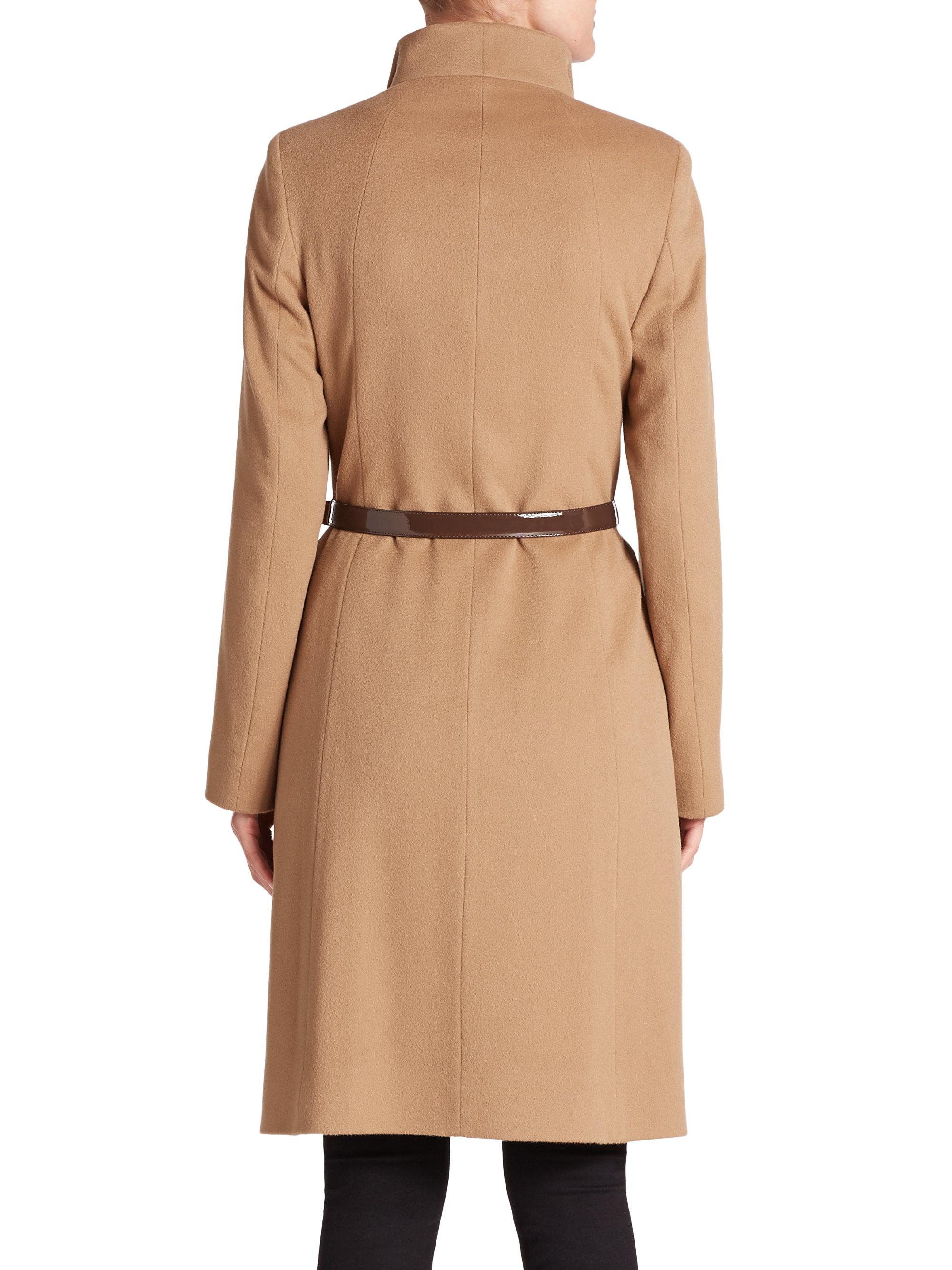 Cinzia rocca Belted Cashmere Coat in Natural   Lyst