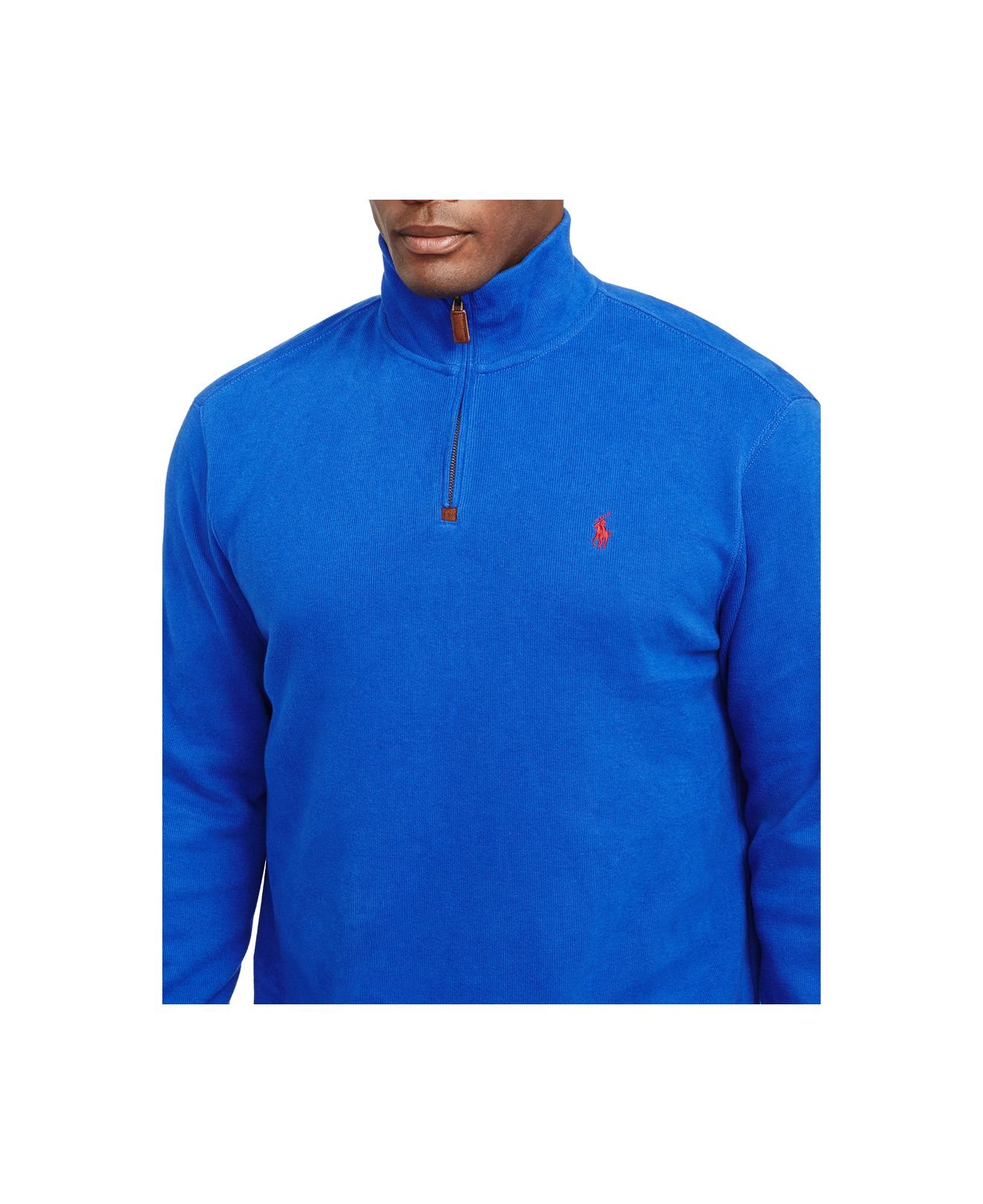 Polo ralph lauren Big And Tall French-rib Half-zip Pullover in Blue for