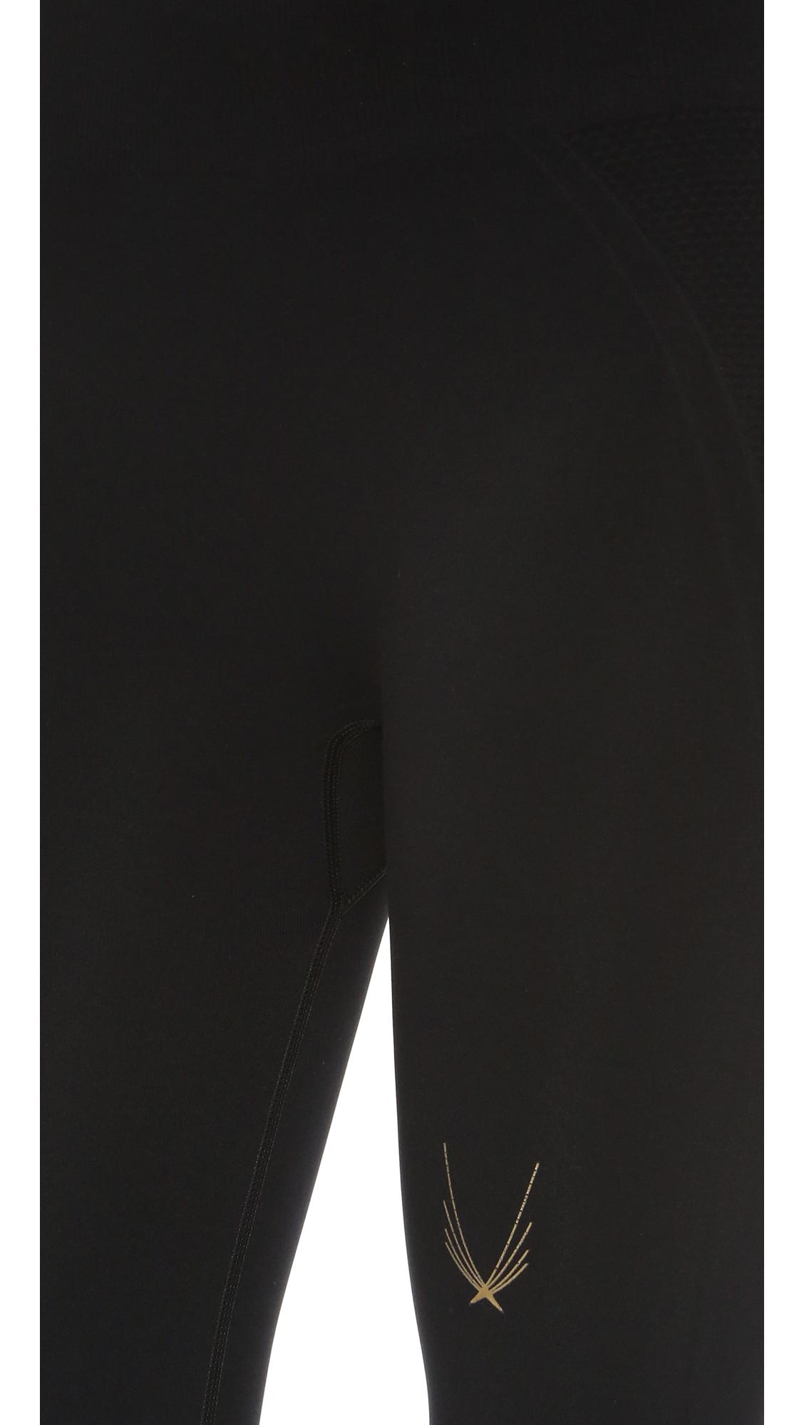 e500283b42888e Lucas Hugh Technical Knit Capri Leggings in Black - Lyst