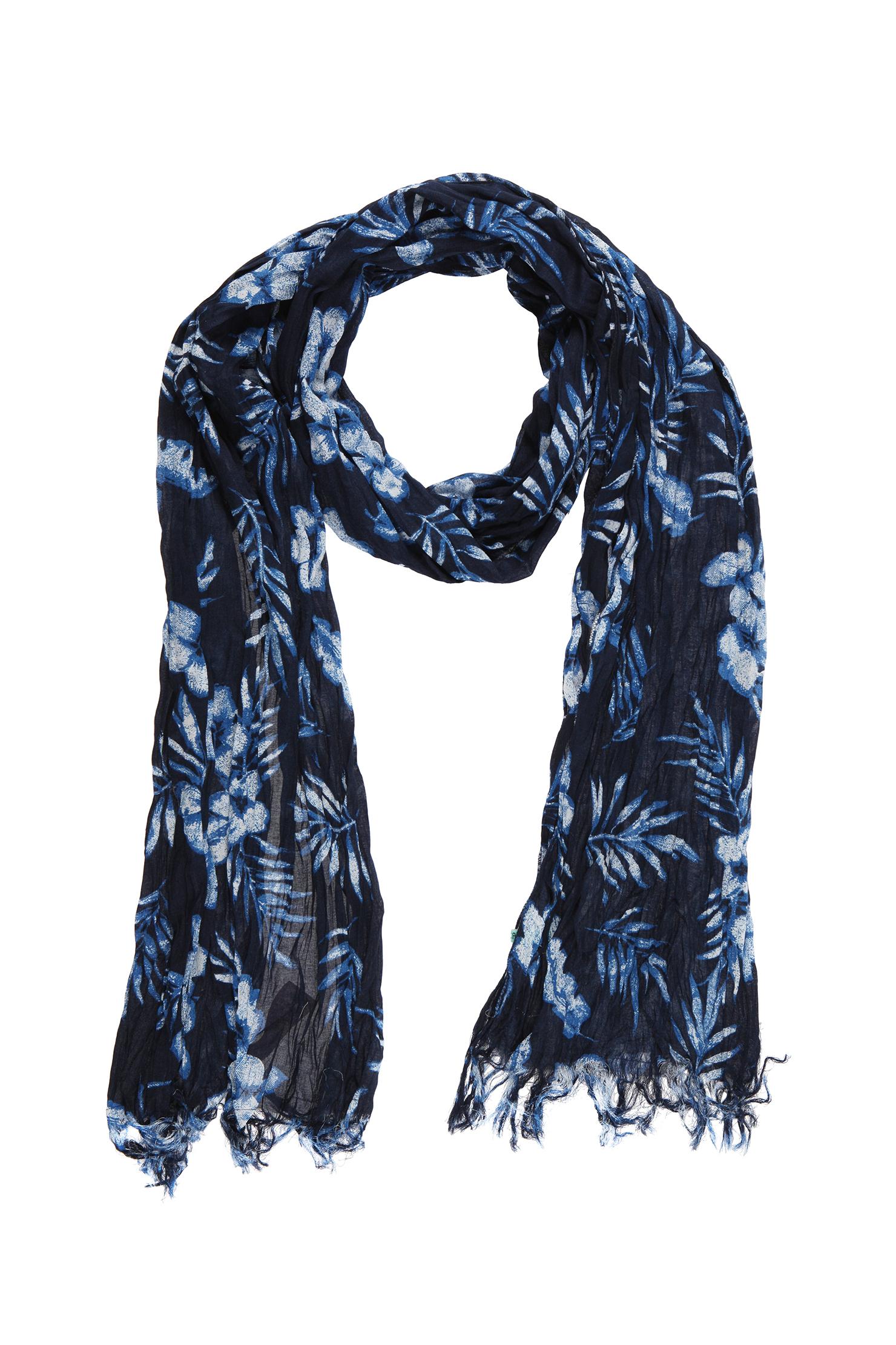 scotch soda oblong scarf in blue for lyst