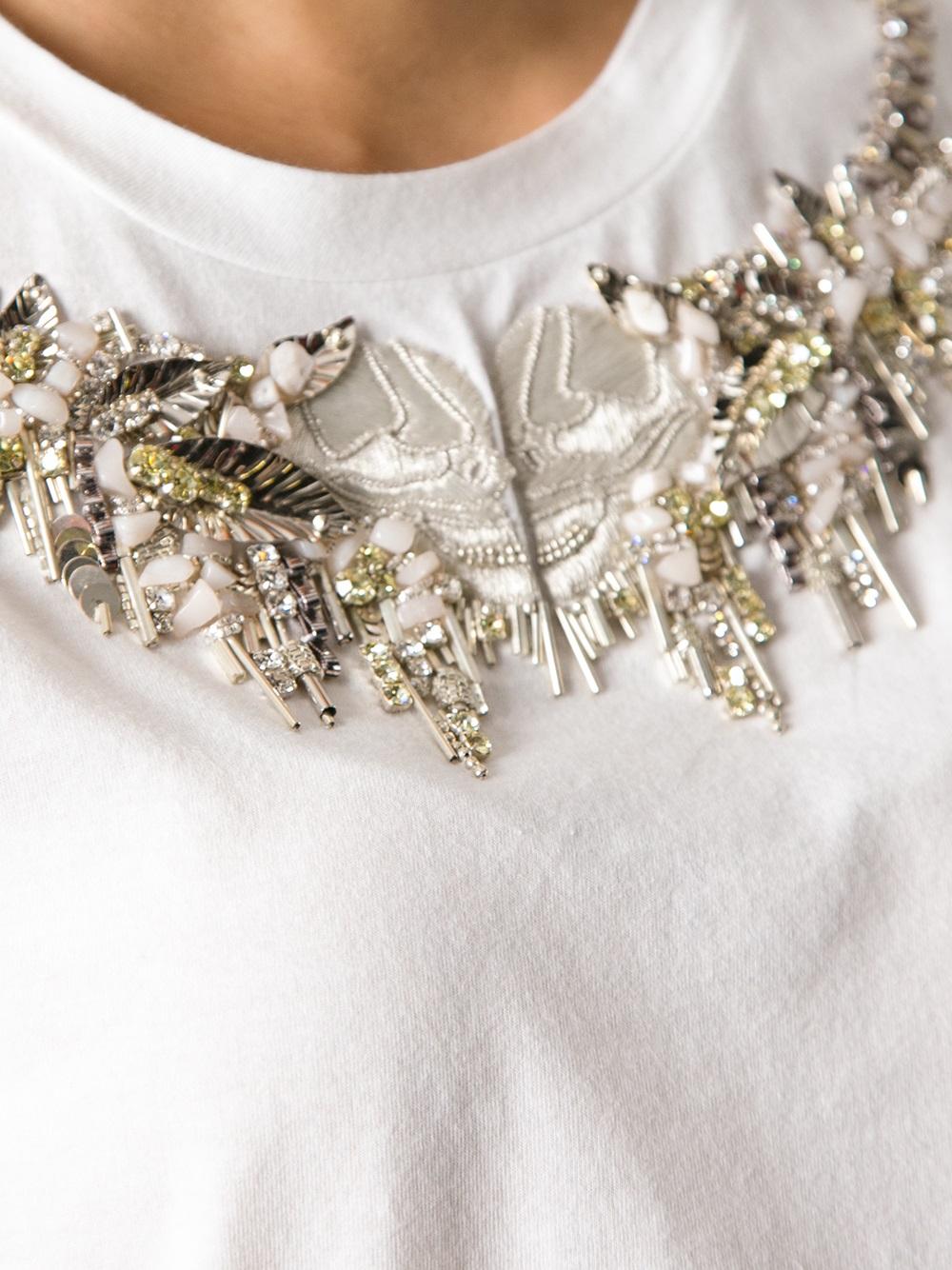 Short Sleeve White Blouse