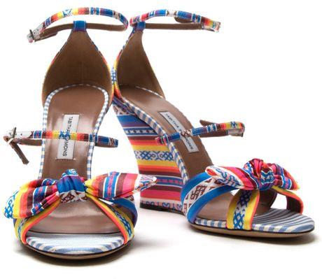 Tabitha Simmons Clara Wedge in Multicolor (multicolour) - Lyst
