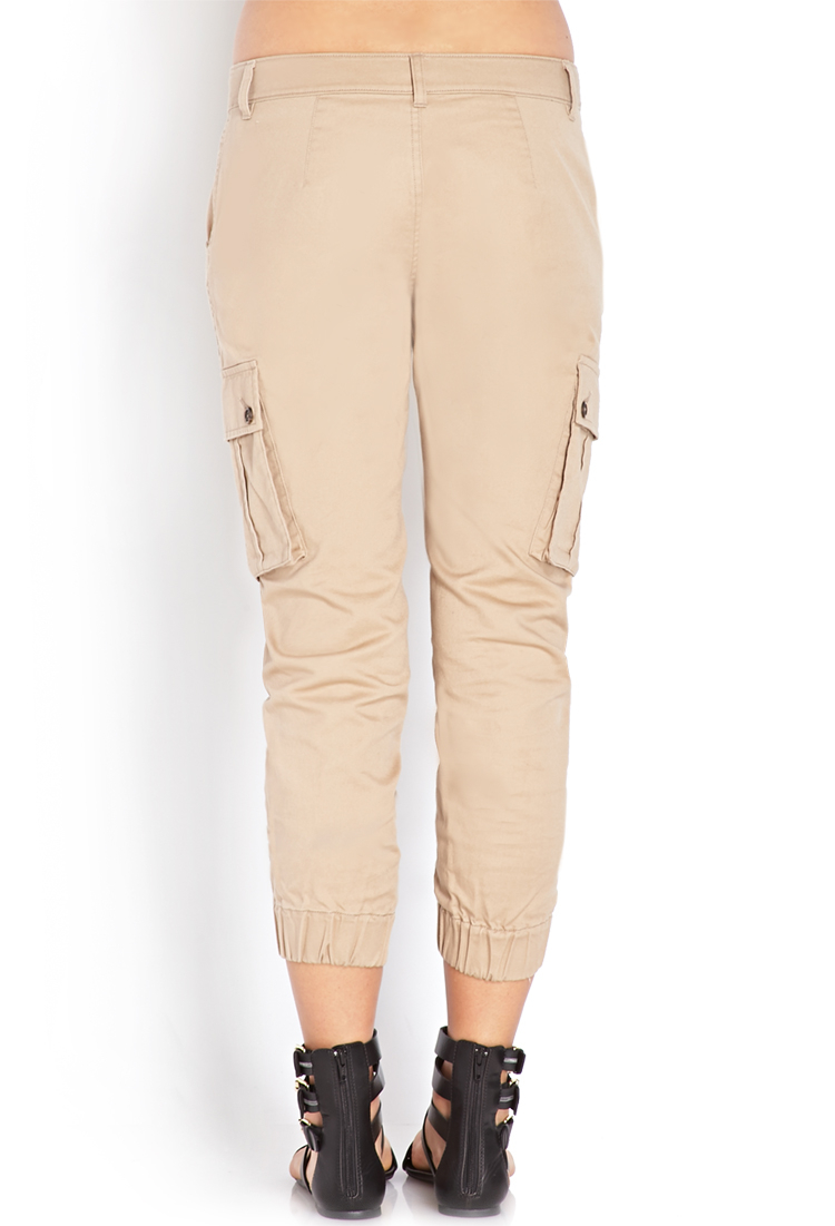Simple Forever 21 Zippered Cargo Pants In Brown Taupe  Save 29  Lyst