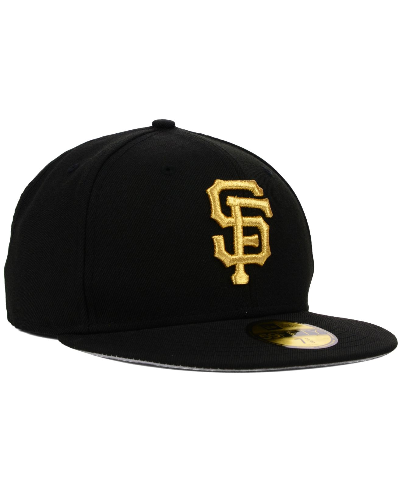 0f40913a6c6 ... norway lyst ktz san francisco giants gold 59fifty cap in black for men  a7850 ed7ee