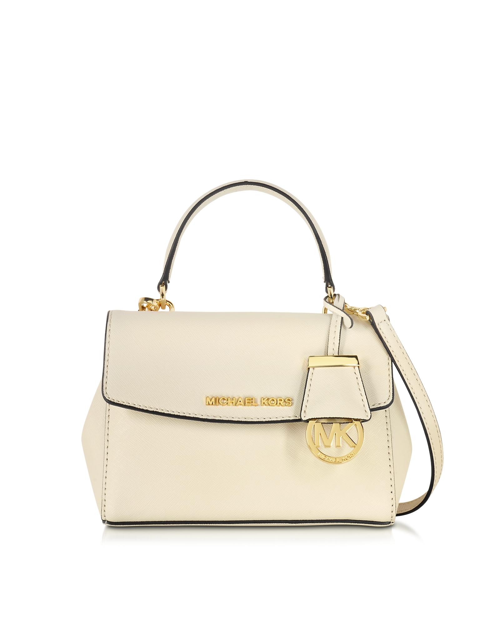 89e3065d36be Michael Kors Ava Ecru Saffiano Leather Extra Small Crossbody Bag in ...
