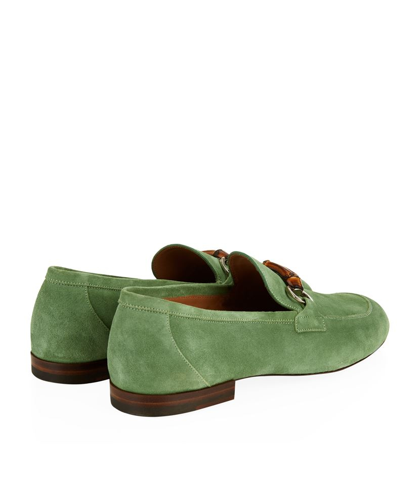 41cf2dccc03 Gucci Freud Bamboo Horsebit Loafer in Green for Men - Lyst
