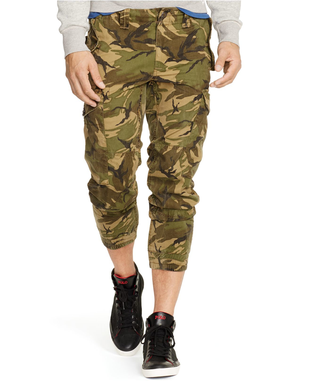 Polo ralph lauren Men's Straight-fit Camouflage Twill Cargo Pants ...