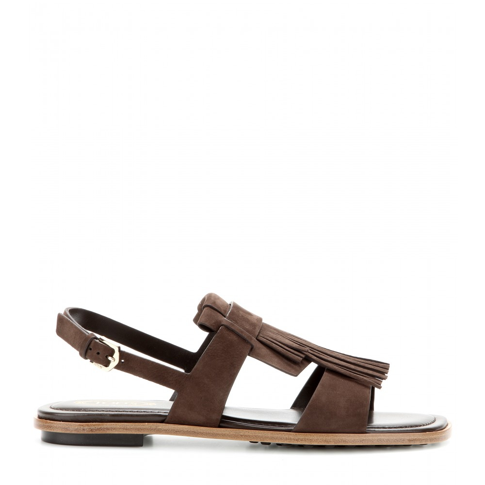 Brown fringed sandals Tod's Free Shipping Clearance 76seR