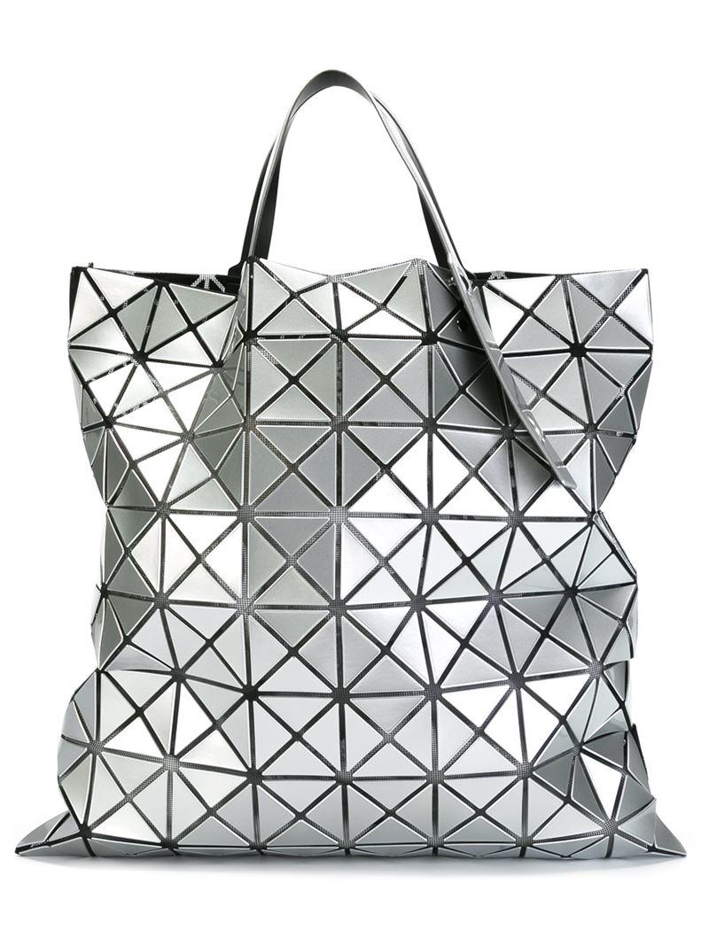 Bao Bao Issey Miyake Geometric Pattern Tote Bag in Gray - Lyst 0507ec700e563
