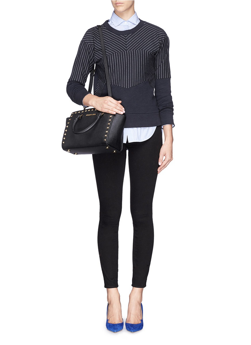 michael kors selma medium studded black friday