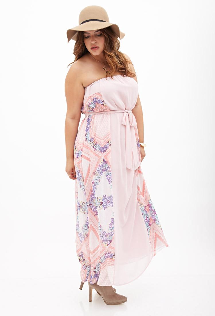 Pink Strapless Maxi Dress