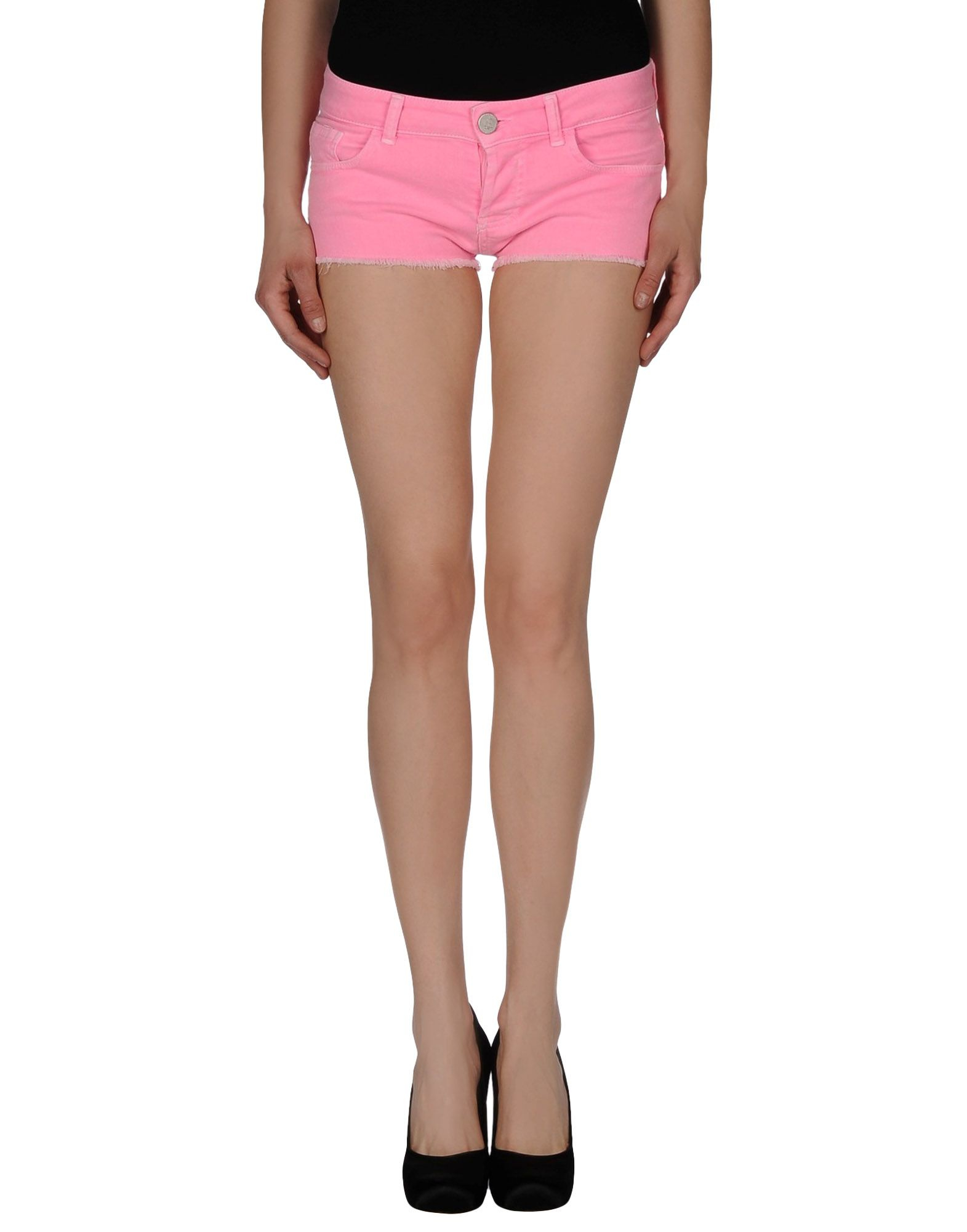 Twin set Denim Shorts in Purple | Lyst