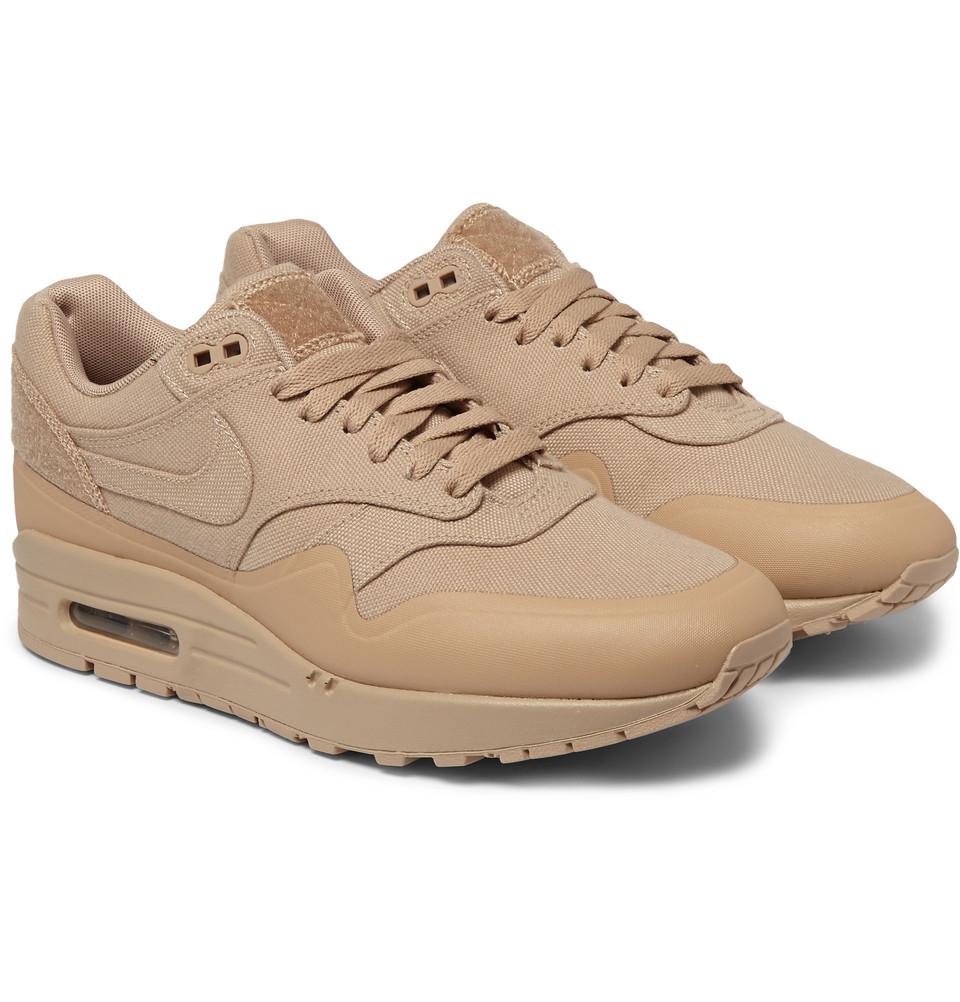 quality design e2a80 b5332 Lyst - Nike Tz Air Max 1 Patch Canvas And Leather Sneakers i