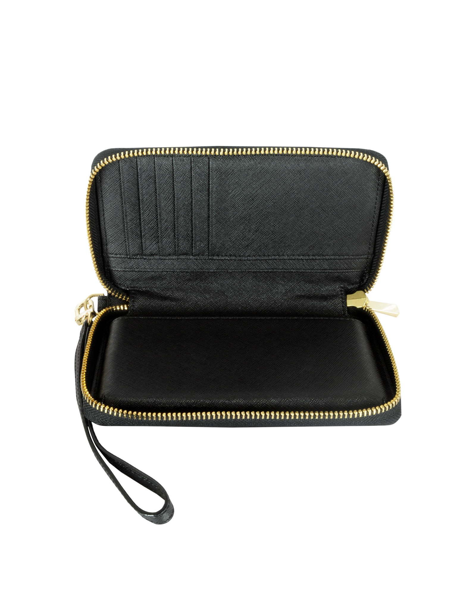 366c22d3d47 Tory Burch Robinson Zip-around Smartphone Wristlet in Black - Lyst