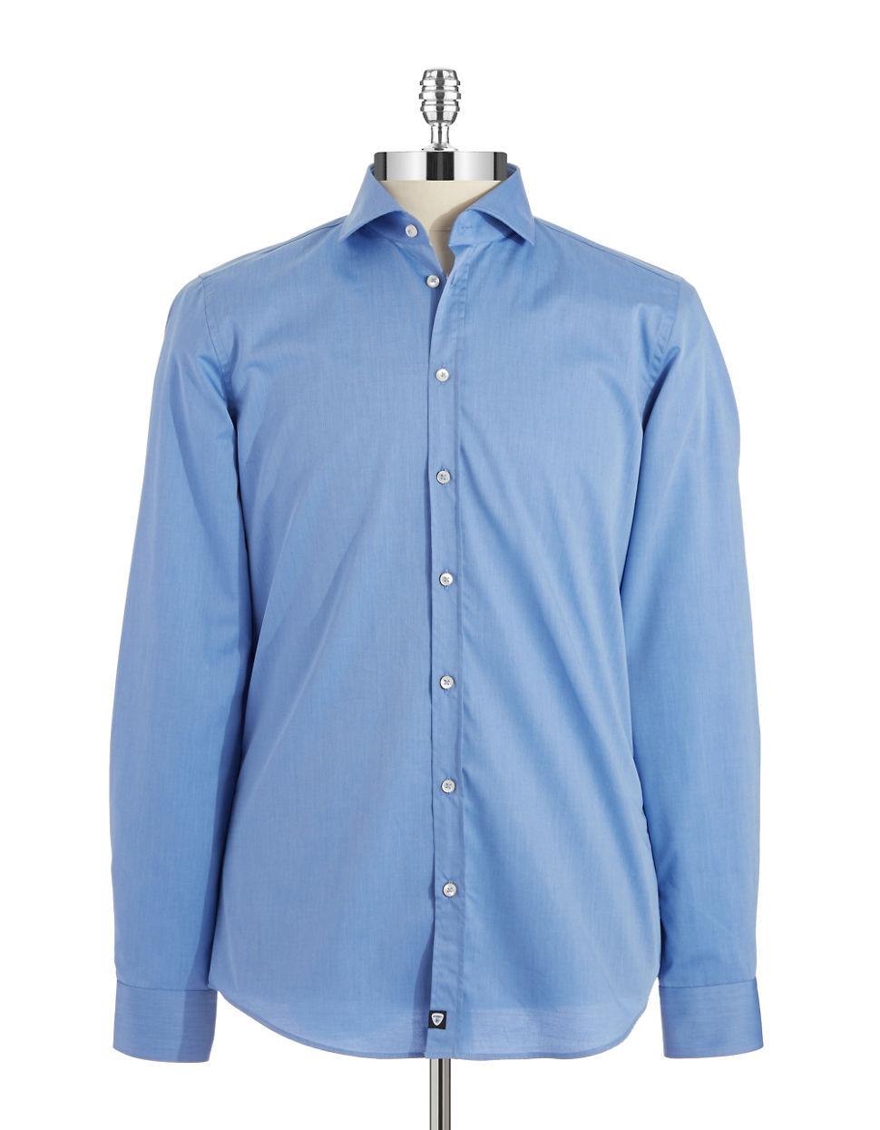 strellson jamie slim fit sportshirt in blue for men lyst. Black Bedroom Furniture Sets. Home Design Ideas
