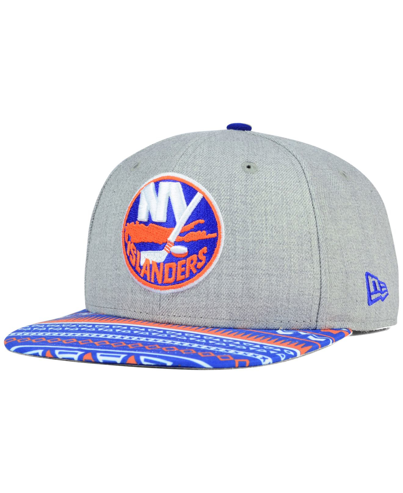 buy online f57ab bd115 KTZ New York Islanders Neon Mashup 9fifty Snapback Cap in Gray for ...