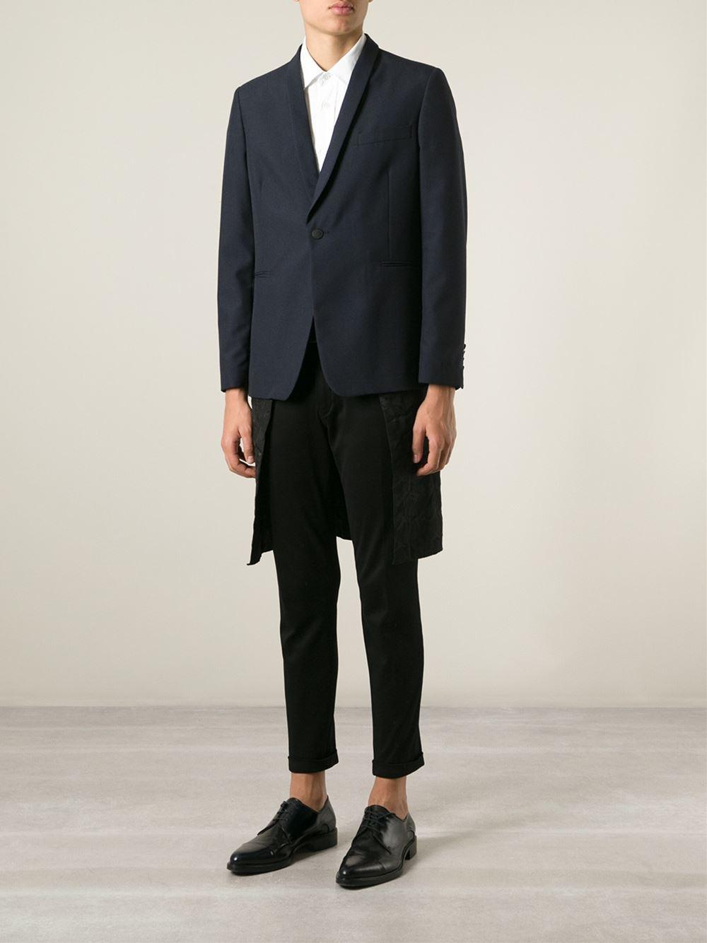 Golden goose deluxe brand Long Back Jacket in Blue for Men | Lyst