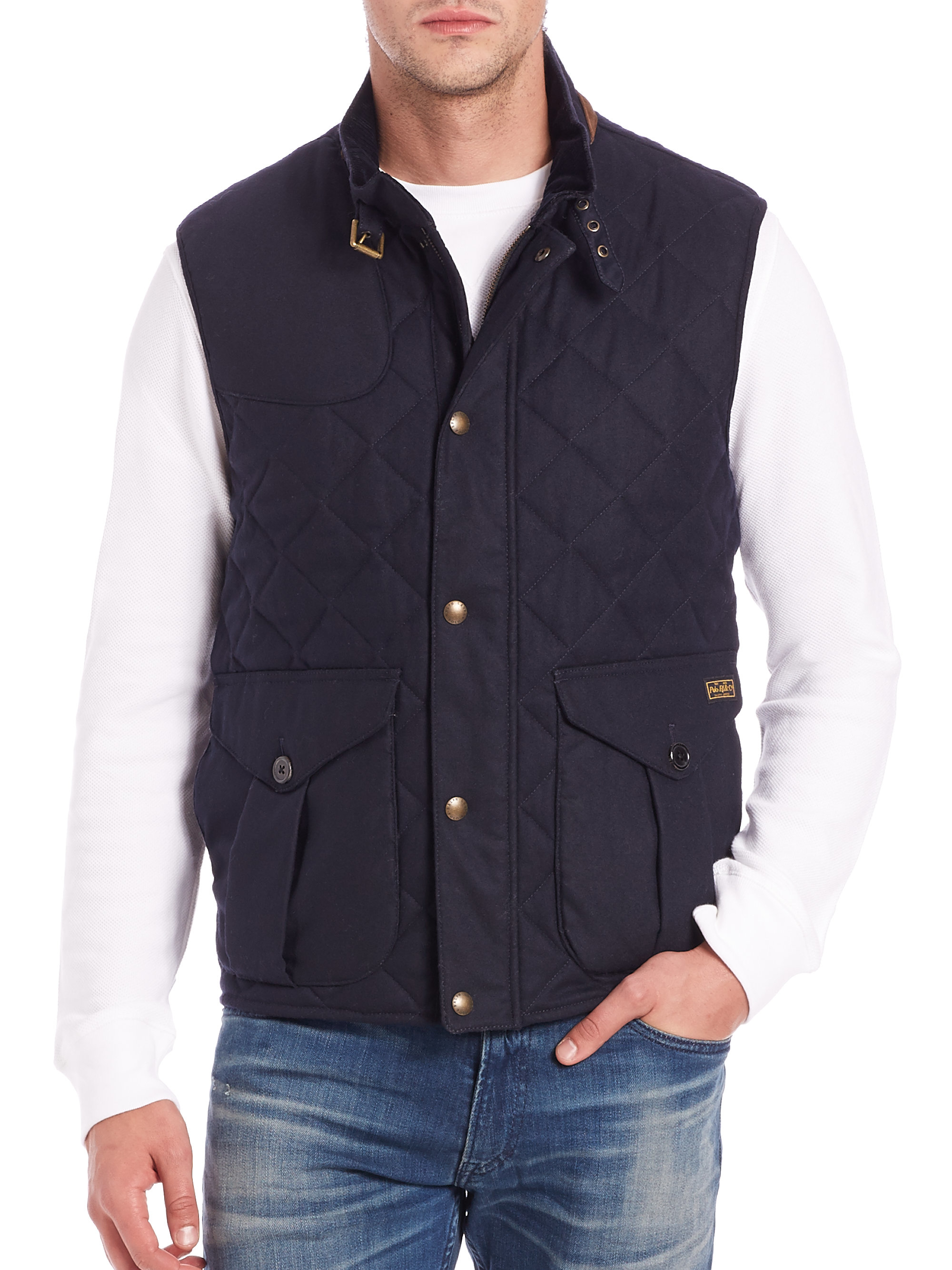 Polo Ralph Lauren Quilted Puffer Vest In Blue For Men Lyst