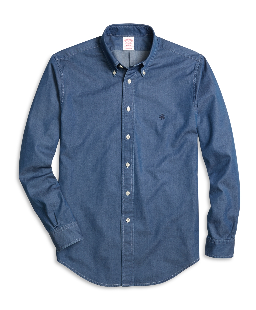 Brooks Brothers Madison Fit Button Down Collar Denim Sport
