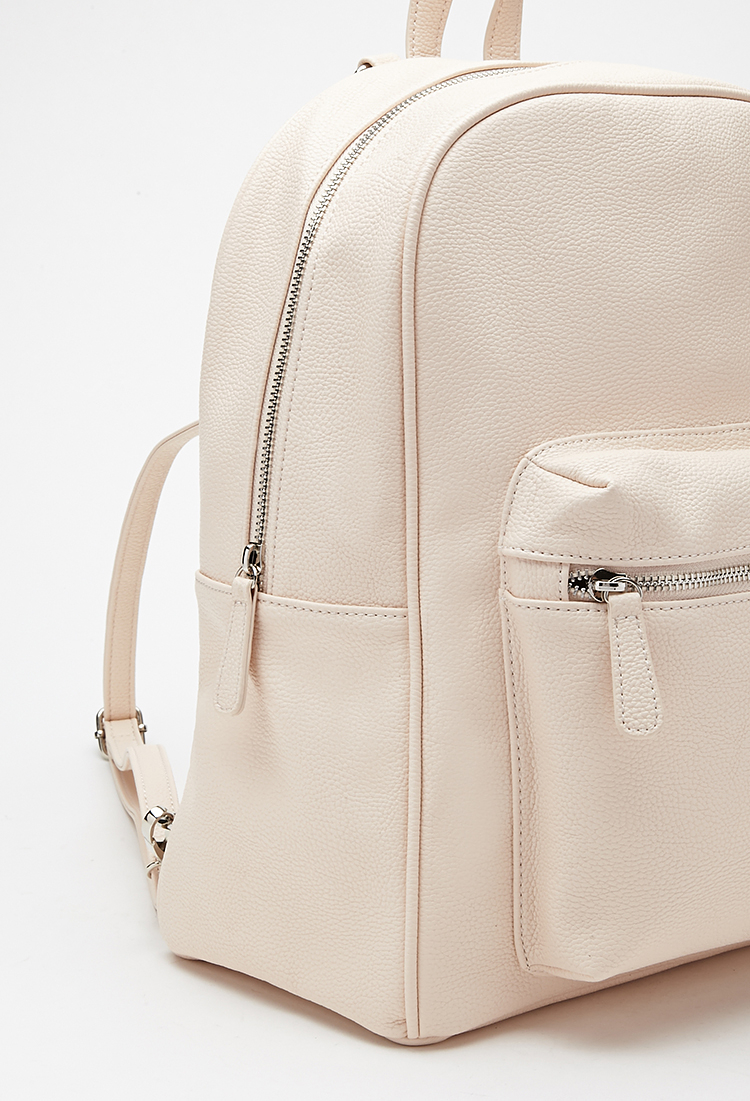 Lyst Forever 21 Pebbled Faux Leather Backpack In Pink