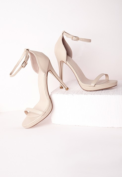 Barely There Heeled Sandals - Nude Missguided BSZmzCP