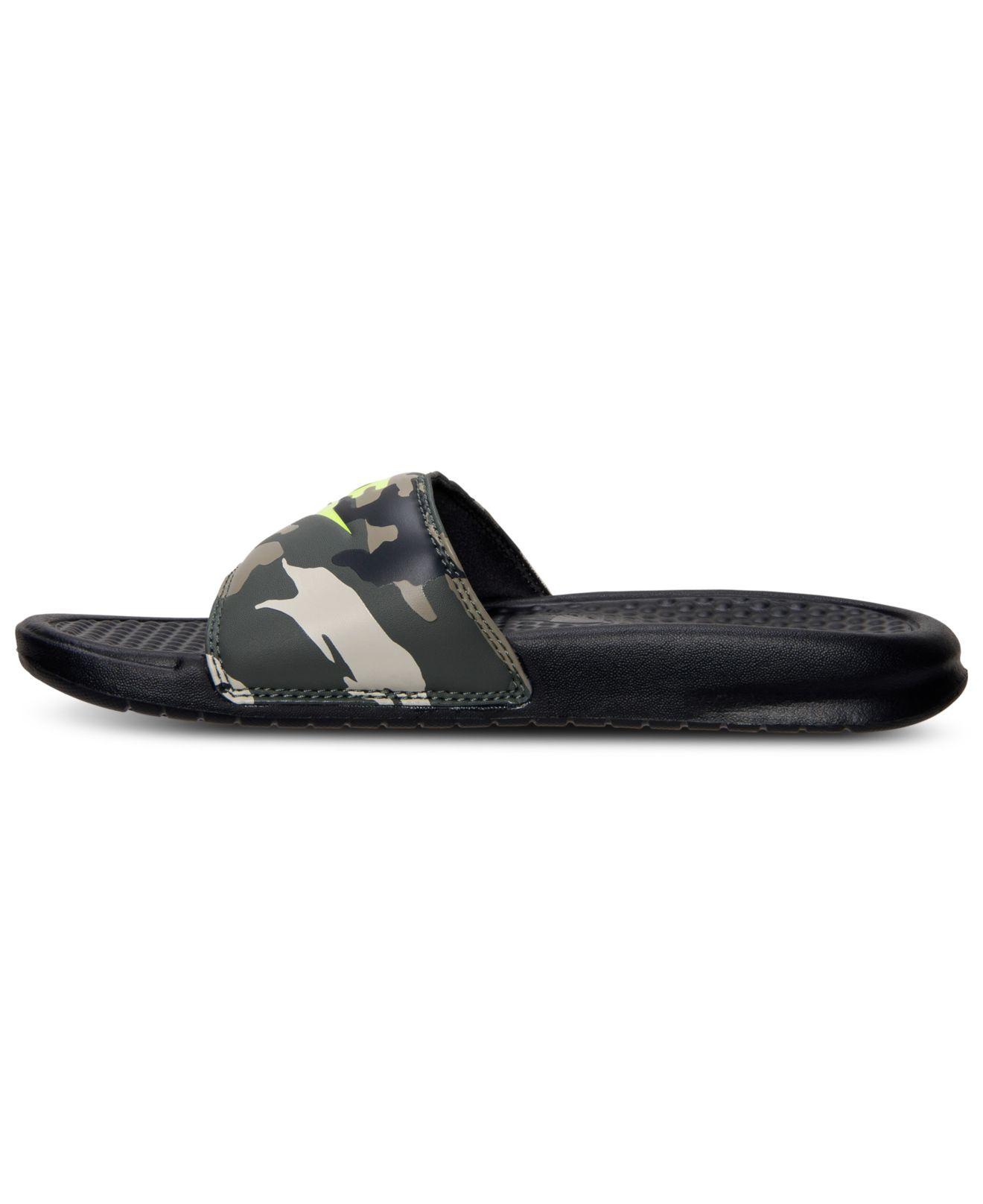 best loved 87363 e6e2d ... Lyst - Nike Men S Benassi Jdi Print Slide Sandals From Finish Line in  Brown for ...