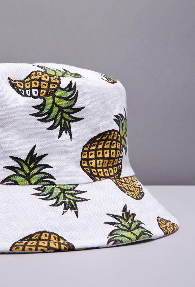 Forever 21 Pineapple Print Bucket Hat You ve Been Added To The ... 7d7d94f8978