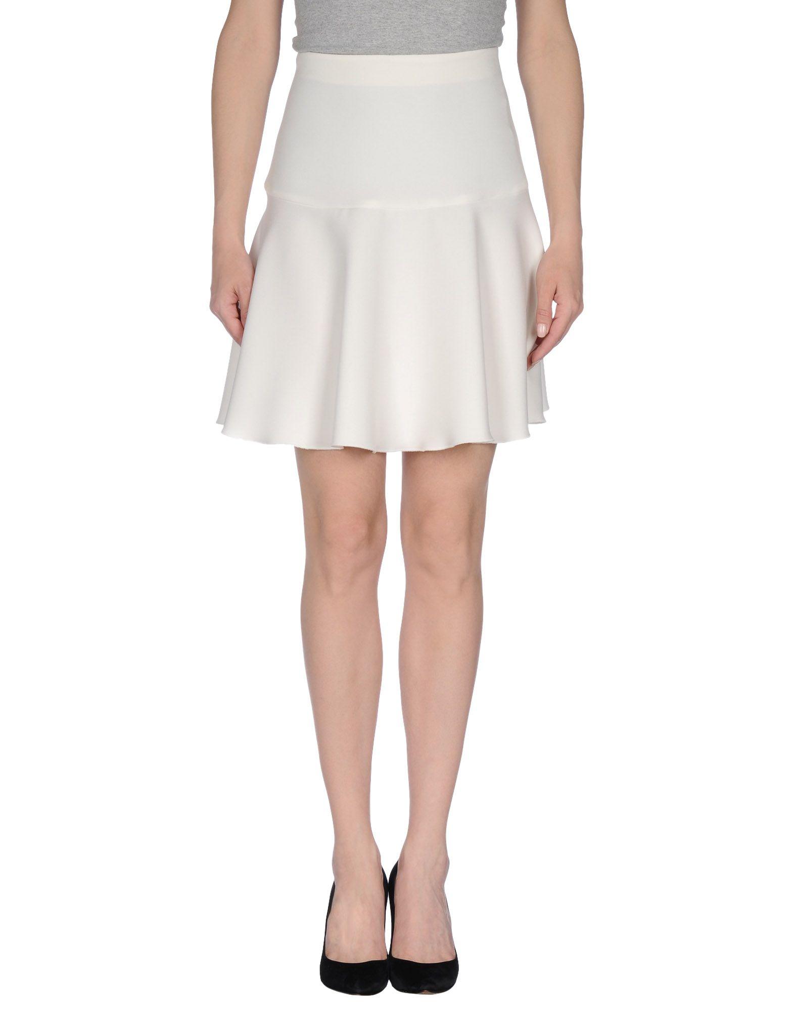 alysi knee length skirt in white save 74 lyst