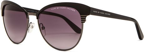 Marc Jacobs Big Frame Glasses : Marc By Marc Jacobs Metal Frame Cat Eye Sunglasses in ...