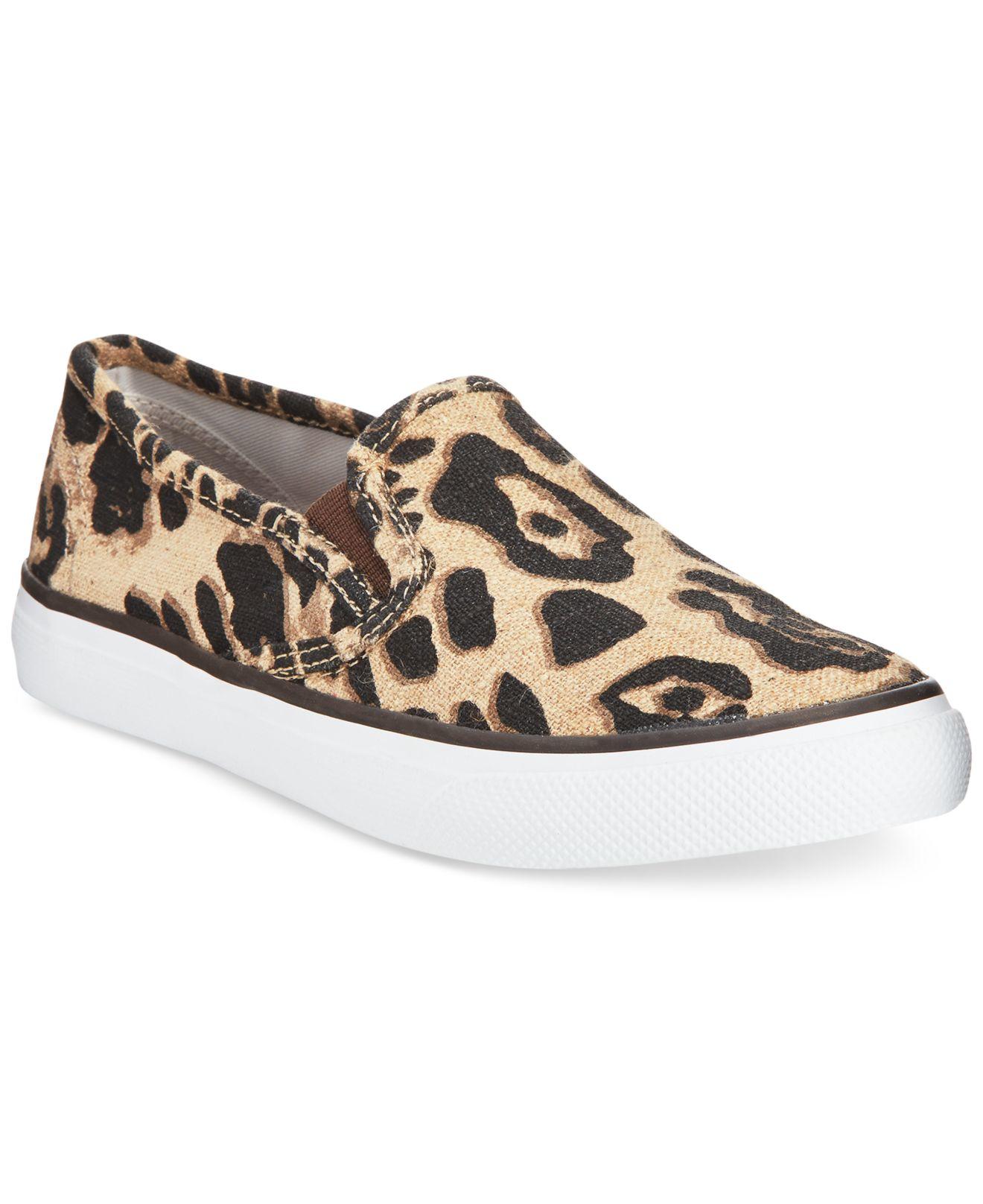 nike leopard slip on