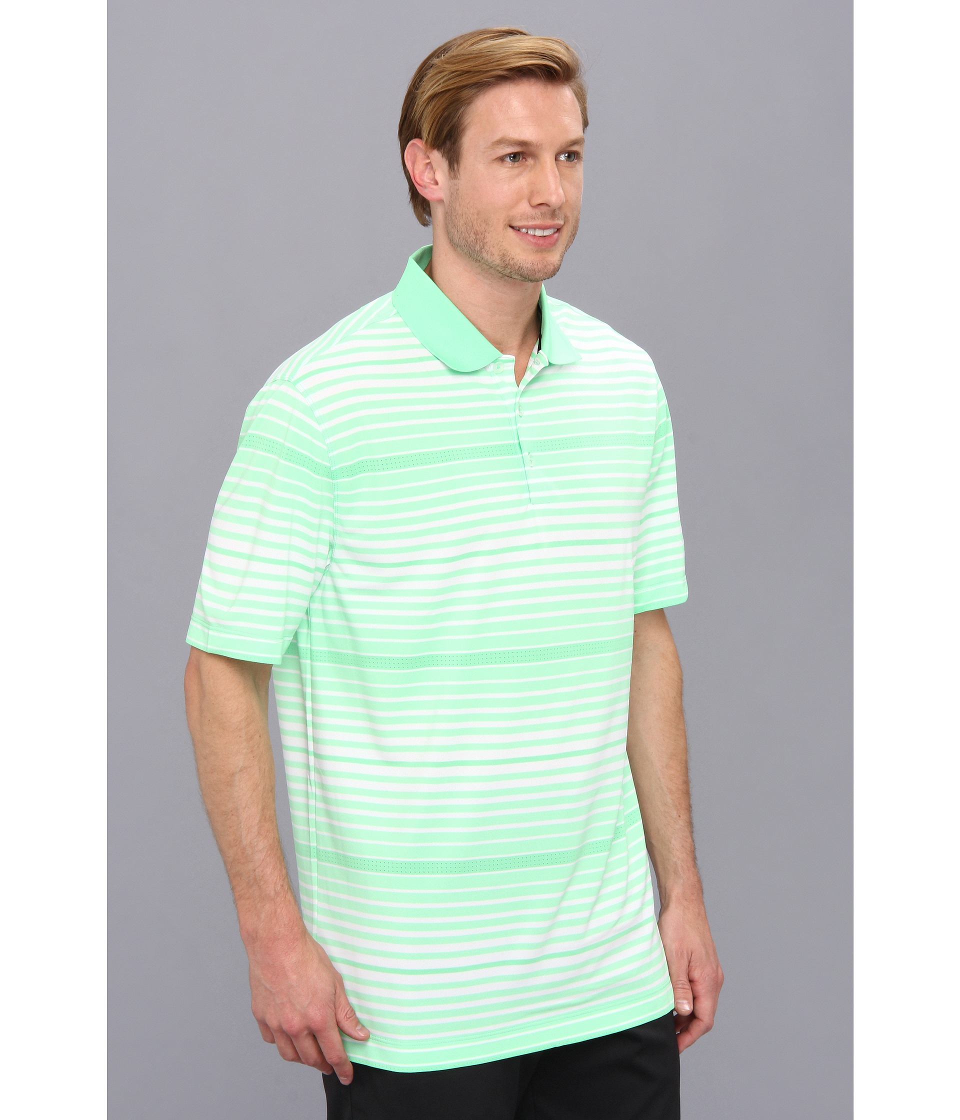 610ee518 Nike Key Bold Heather Stripe Polo in Green for Men - Lyst