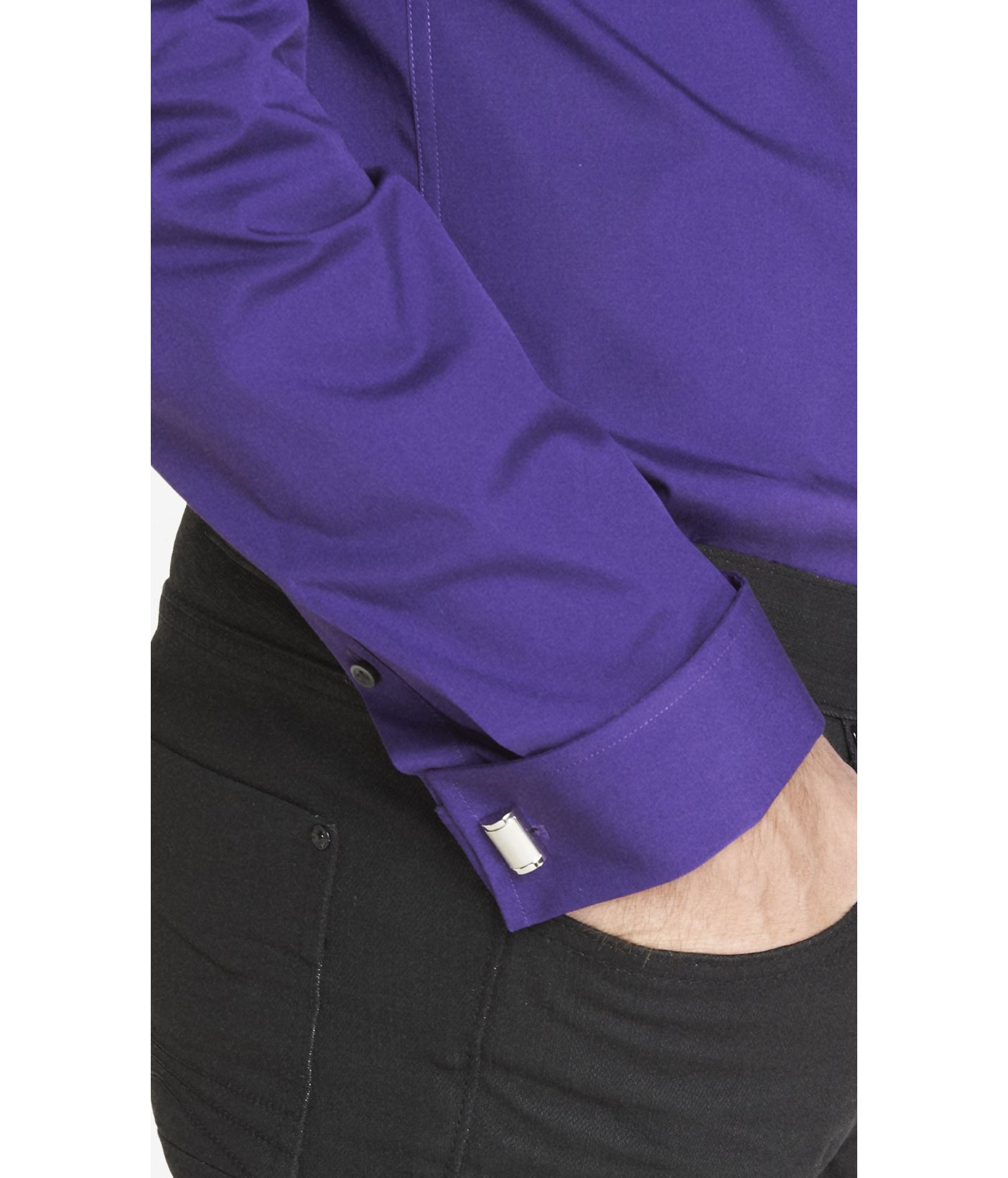 Lyst Express Modern Fit 1mx French Cuff Shirt In Purple