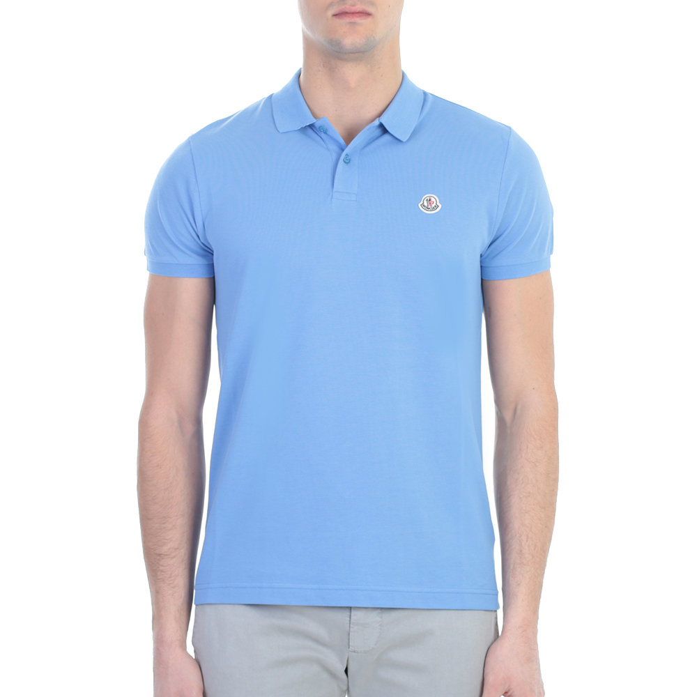 moncler light blue polo