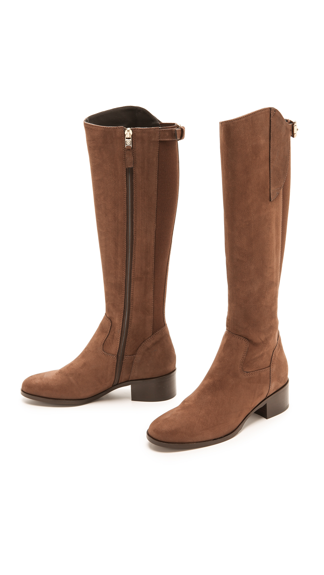 3b239741d L.K.Bennett Tala Knee Boots With Elastic Back - Brown in Brown - Lyst