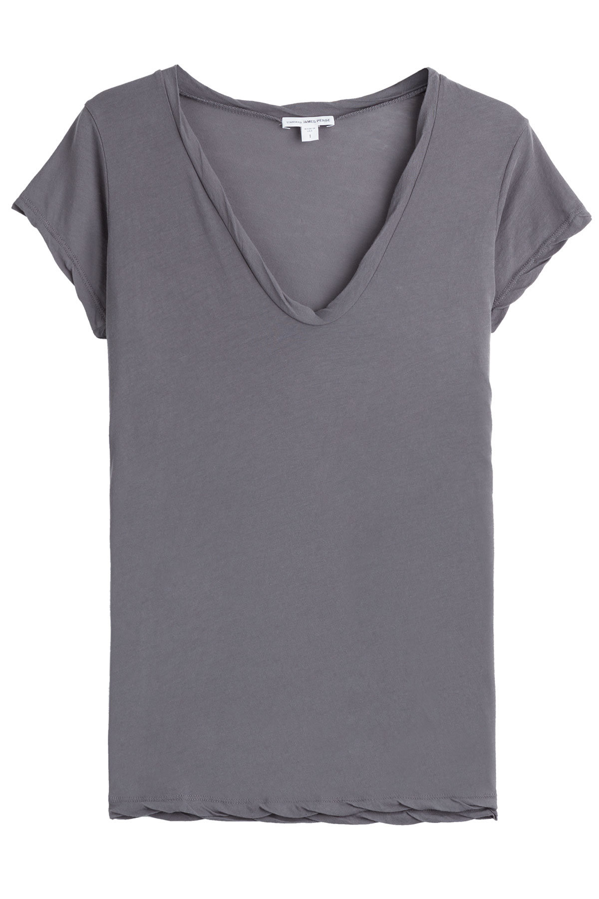 james perse cotton t shirt in gray lyst