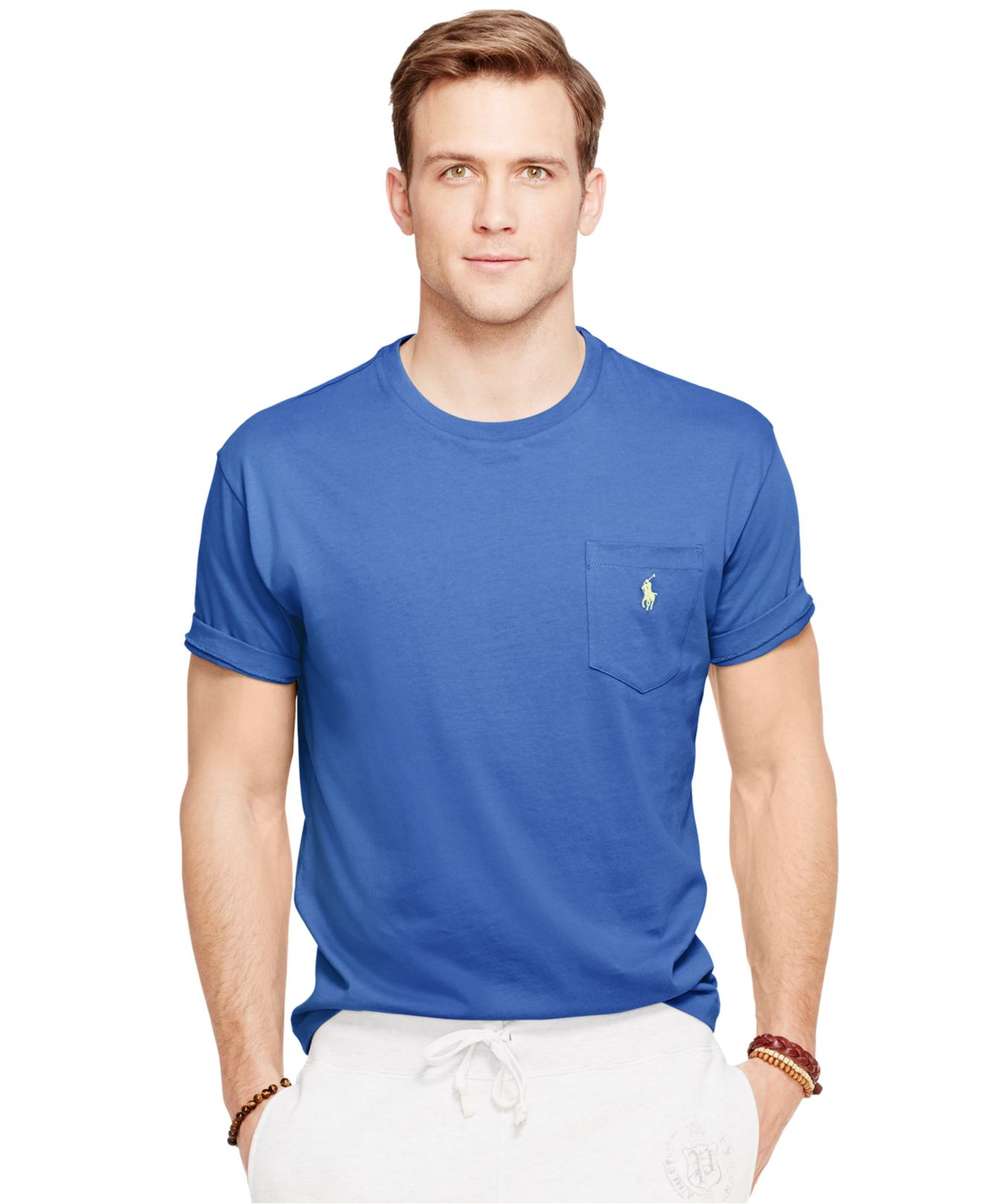 Ralph lauren tee with pocket for Two pocket polo shirt
