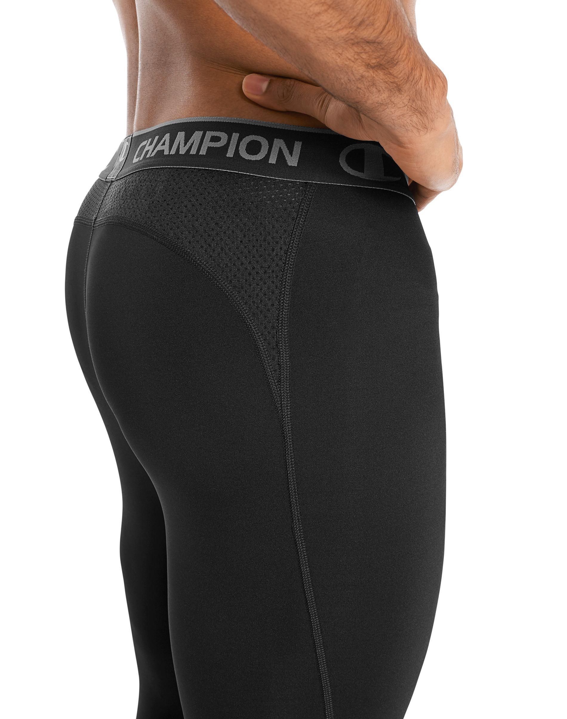 771898ad8a8c Champion - Black Powerflex Tights for Men - Lyst. View fullscreen