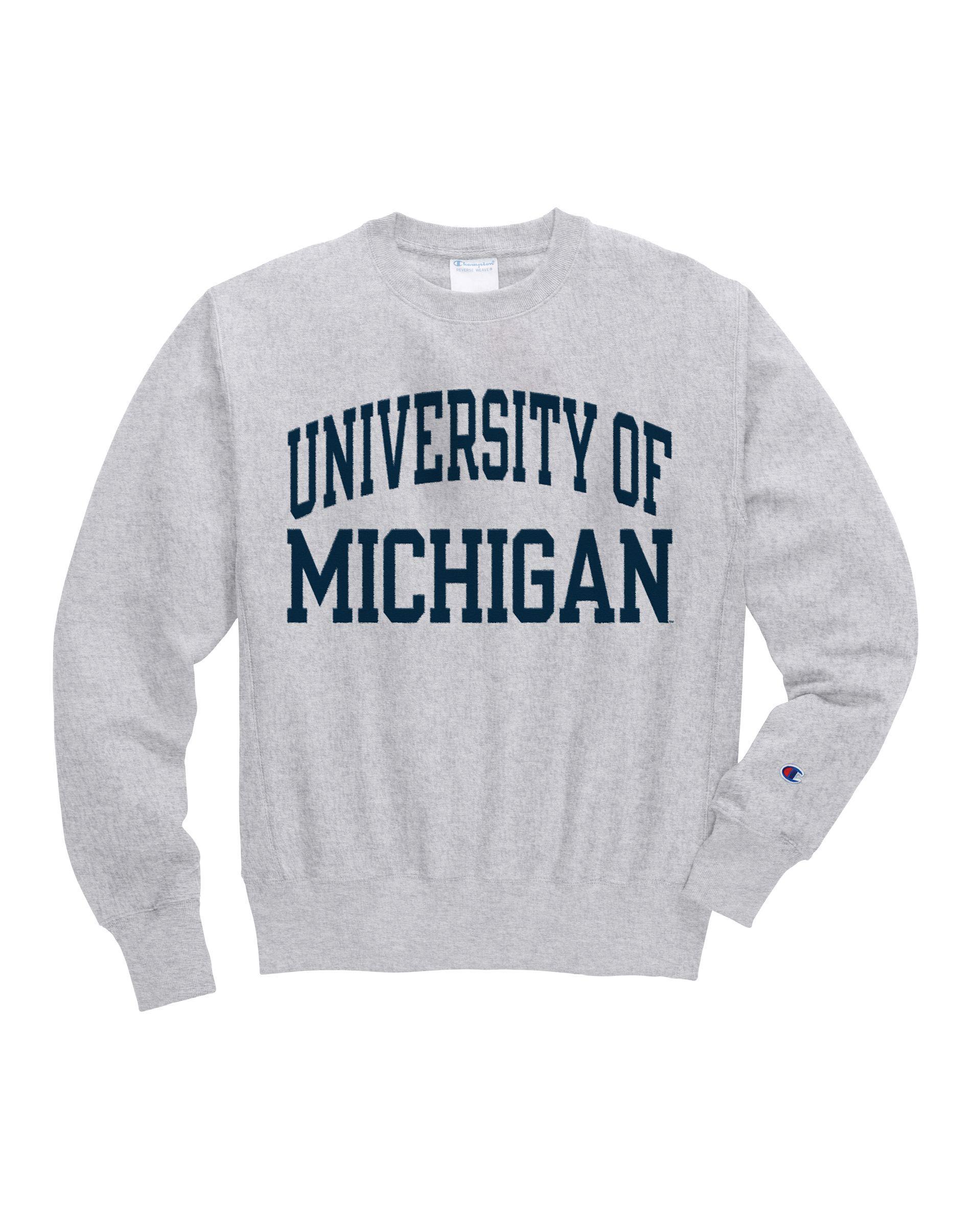5601e266 Champion. Men's Gray Life® Reverse Weave® Ncaa Michigan Wolverines  Sweatshirt